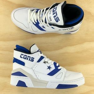 Converse ERX 260 Mid Top Blue White Leather Shoes
